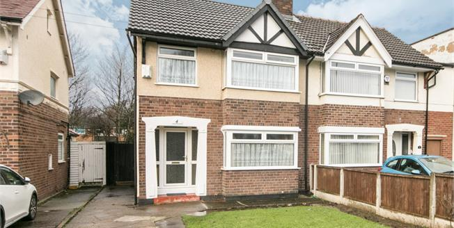 Offers Over £142,000, 3 Bedroom Semi Detached House For Sale in Bromborough, CH62