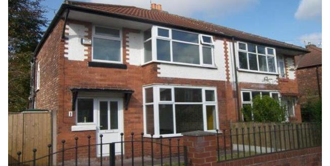 £1,050 per Calendar Month, 3 Bedroom Semi Detached House To Rent in Manchester, M21