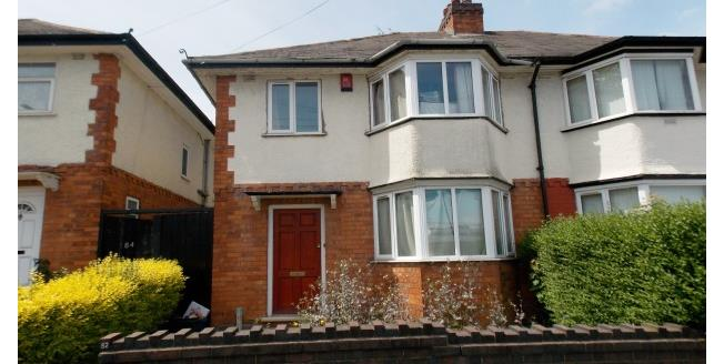£867 per Calendar Month, 4 Bedroom House To Rent in Selly Oak, B29