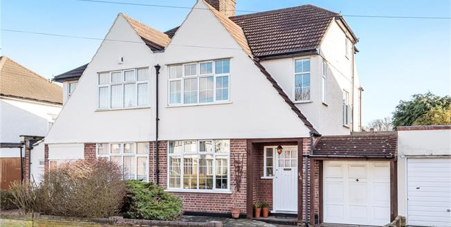 Guide Price £650,000, 4 Bedroom Semi Detached House For Sale in Chislehurst, BR7