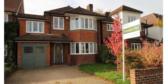 £2,300 per Calendar Month, 4 Bedroom Detached House To Rent in Esher, KT10
