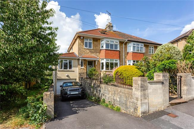 Guide Price £900,000, 4 Bedroom Semi Detached House For Sale in Bath, BA2
