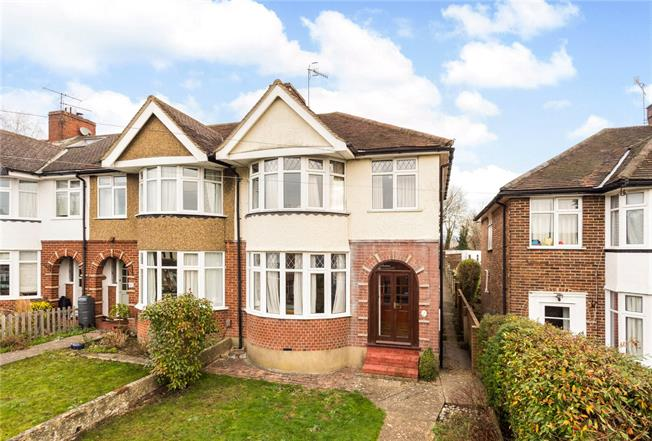 Guide Price £450,000, 3 Bedroom Semi Detached House For Sale in Surrey, RH4