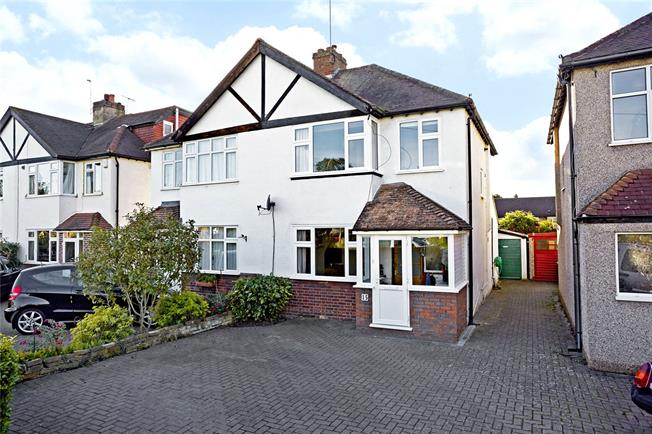 Guide Price £649,950, 3 Bedroom Semi Detached House For Sale in Claygate, KT10