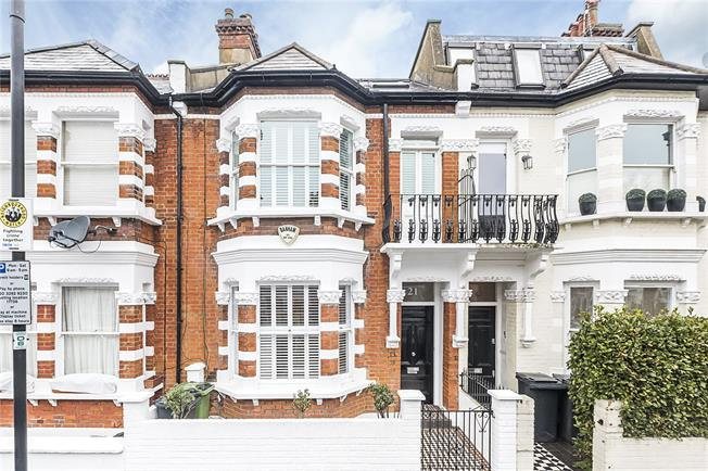 Asking Price £1,750,000, 5 Bedroom Terraced House For Sale in London, SW6