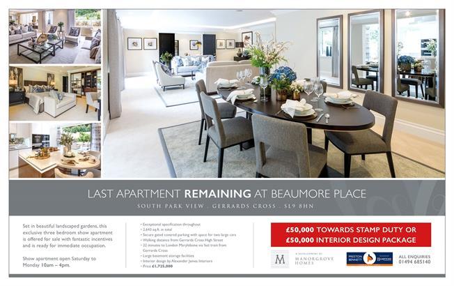 Guide Price £1,725,000, 3 Bedroom Flat For Sale in Buckinghamshire, SL9