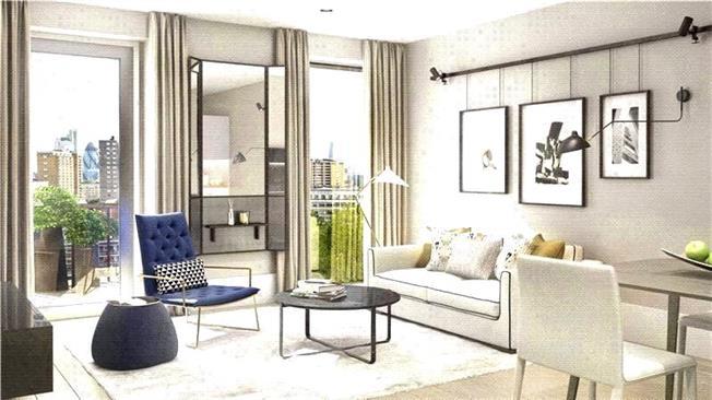 Guide Price £852,500, 2 Bedroom Flat For Sale in Wharf Road, London, N1