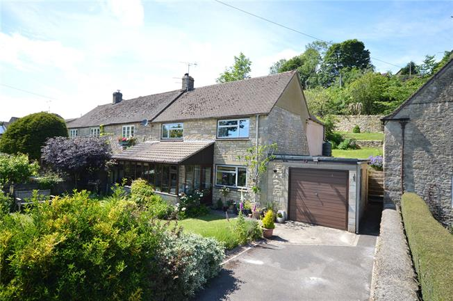 Guide Price £360,000, 3 Bedroom Semi Detached House For Sale in Oakridge Lynch, GL6