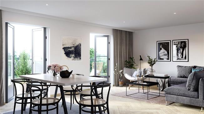 Asking Price £600,000, 2 Bedroom Flat For Sale in London, SW19