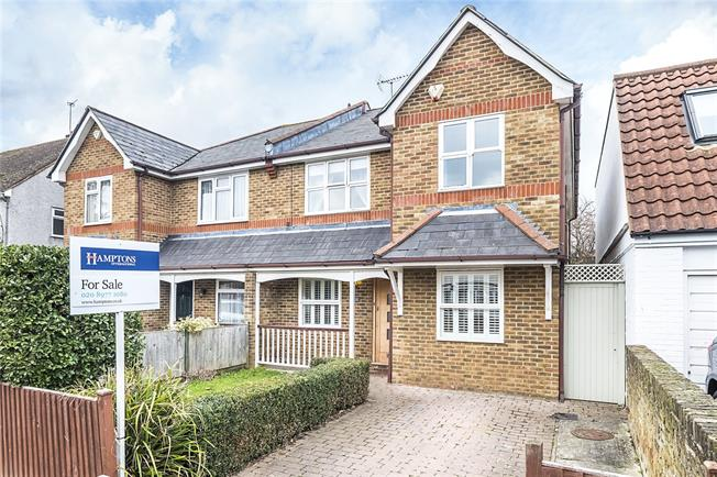 Guide Price £995,000, 4 Bedroom Semi Detached House For Sale in Hampton Hill, TW12