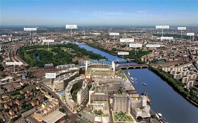 Asking Price £825,000, 2 Bedroom Flat For Sale in Battersea Power Station, SW8