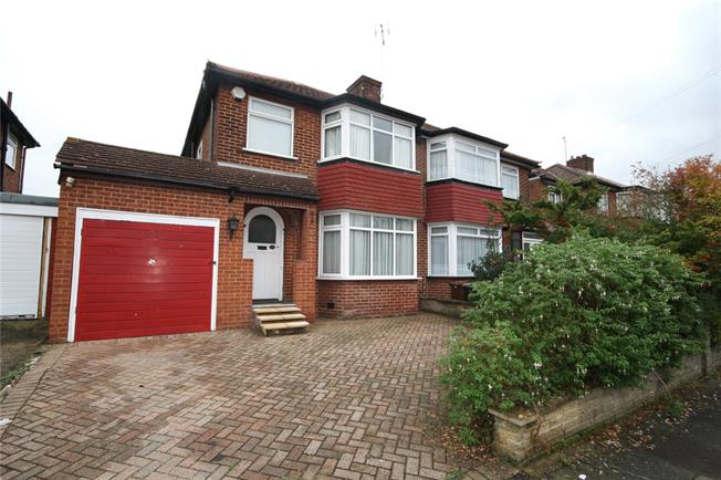Guide Price £625,000, 3 Bedroom Semi Detached House For Sale in Stanmore, HA7
