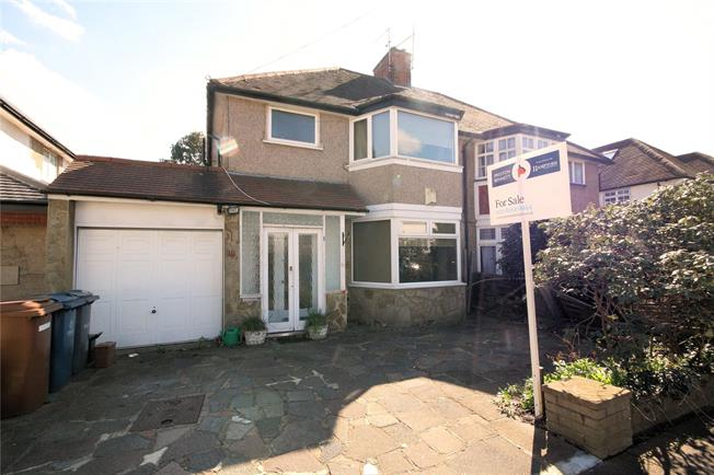 Guide Price £750,000, 3 Bedroom Semi Detached House For Sale in Stanmore, HA7