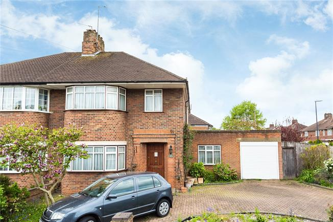 Asking Price £750,000, 4 Bedroom Semi Detached House For Sale in Edgware, HA8