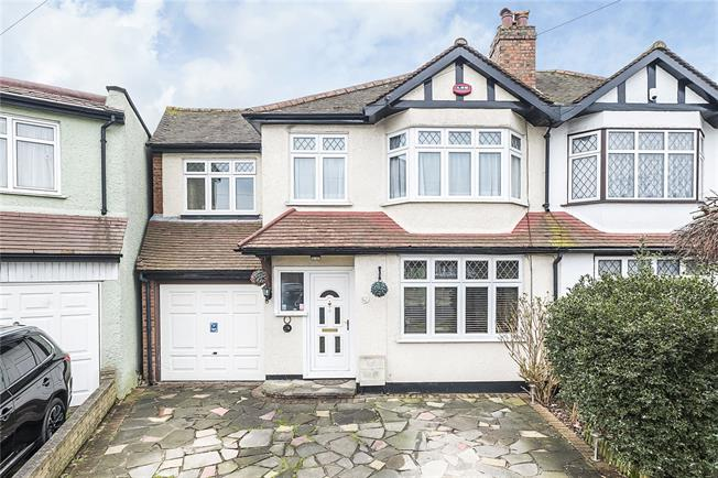 Asking Price £595,000, 4 Bedroom Semi Detached House For Sale in Surbiton, KT6