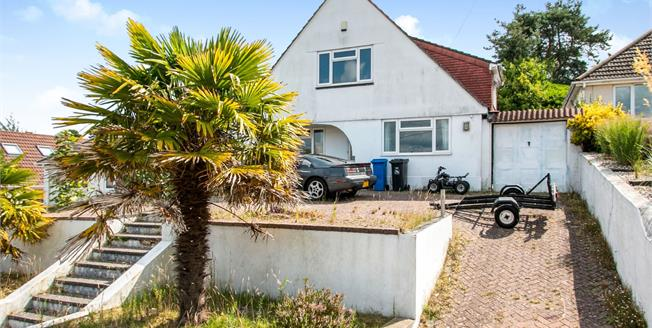 Guide Price £360,000, 4 Bedroom Detached Bungalow For Sale in Poole, BH12