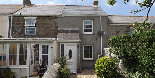 Guide Price £199,950, 2 Bedroom Terraced Cottage For Sale in Mount Hawke, TR4
