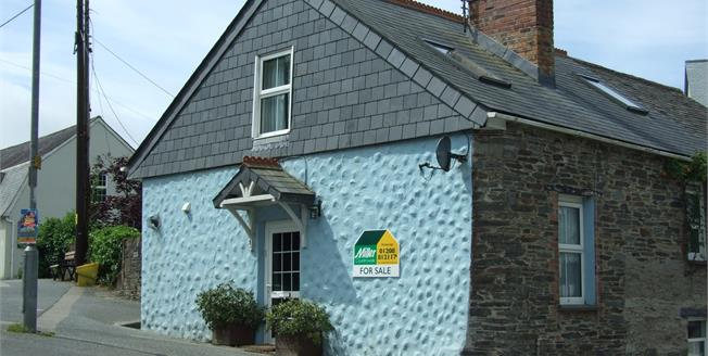 Guide Price £170,000, 2 Bedroom End of Terrace Cottage For Sale in Cornwall, PL27