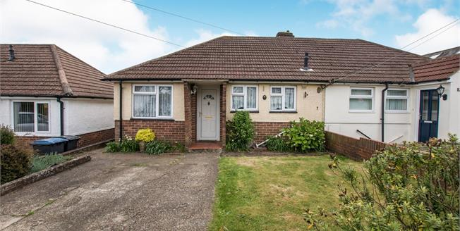 Guide Price £255,000, 2 Bedroom Semi Detached Bungalow For Sale in Capel-le-Ferne, CT18
