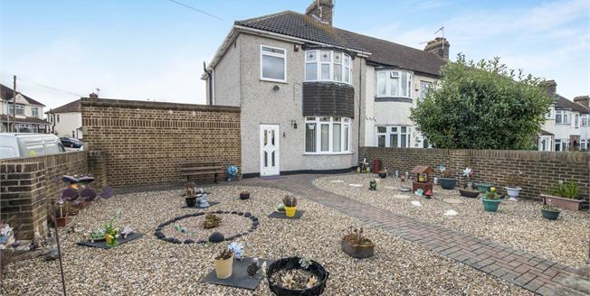 Guide Price £300,000, 3 Bedroom Semi Detached House For Sale in Gravesend, DA12