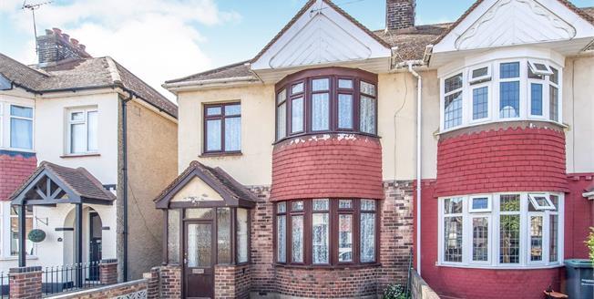 Guide Price £280,000, 3 Bedroom End of Terrace For Sale in Northfleet, DA11