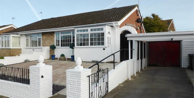 Guide Price £230,000, 2 Bedroom Semi Detached Bungalow For Sale in Lydd, TN29