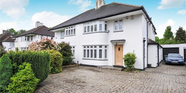 Guide Price £635,000, 3 Bedroom Semi Detached House For Sale in Sidcup, DA14
