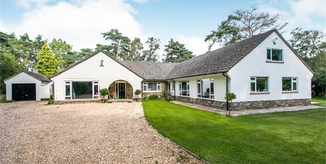 Guide Price £820,000, 4 Bedroom Detached Bungalow For Sale in Ringwood, BH24