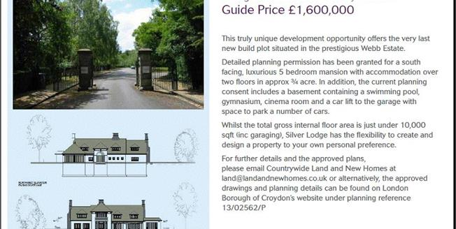 Guide Price £1,550,000, 5 Bedroom House For Sale in Purley, CR8