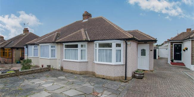 Asking Price £470,000, 2 Bedroom Semi Detached Bungalow For Sale in Epsom, KT19