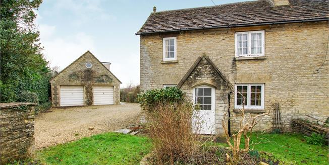 Guide Price £350,000, 3 Bedroom Semi Detached Cottage For Sale in Tetbury, GL8
