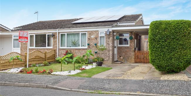 Guide Price £200,000, 2 Bedroom Semi Detached Bungalow For Sale in Bluntisham, PE28