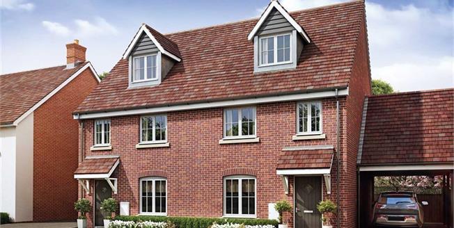 £354,500, 3 Bedroom Semi Detached House For Sale in Milton Keynes, MK3