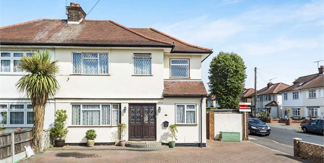 Guide Price £525,000, 4 Bedroom Semi Detached House For Sale in Romford, RM5
