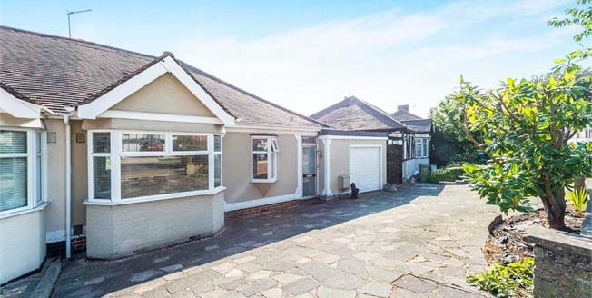 Guide Price £400,000, 3 Bedroom Semi Detached Bungalow For Sale in Romford, RM1