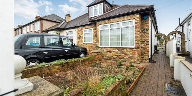 Guide Price £425,000, 4 Bedroom Semi Detached Bungalow For Sale in Romford, RM5