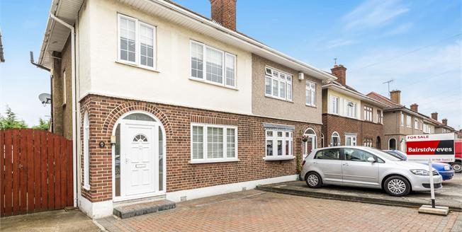 Guide Price £375,000, 3 Bedroom Semi Detached House For Sale in Romford, RM5