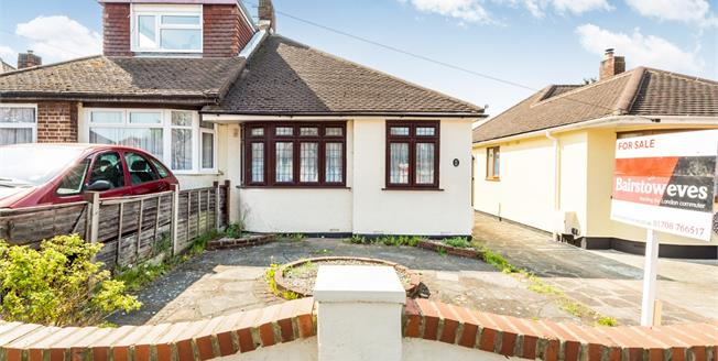 Offers in the region of £325,000, 2 Bedroom Semi Detached Bungalow For Sale in Romford, RM5