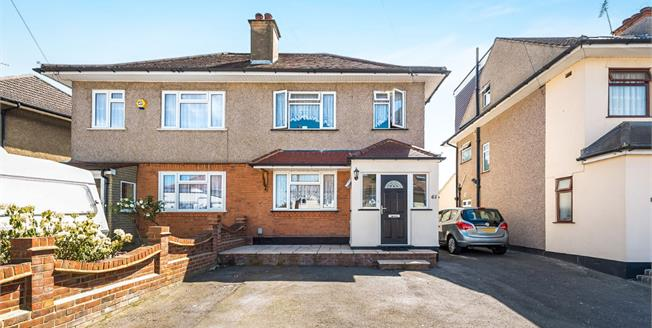 Offers in excess of £375,000, 3 Bedroom Semi Detached House For Sale in Romford, RM5