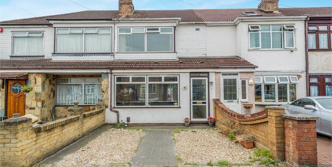 Offers Over £290,000, 2 Bedroom Terraced House For Sale in Romford, RM7