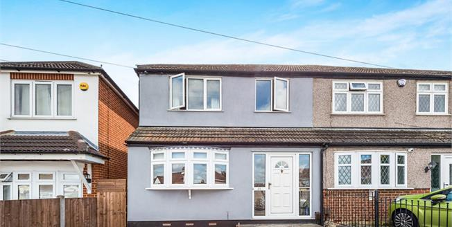 Guide Price £350,000, 3 Bedroom Semi Detached House For Sale in Romford, RM5