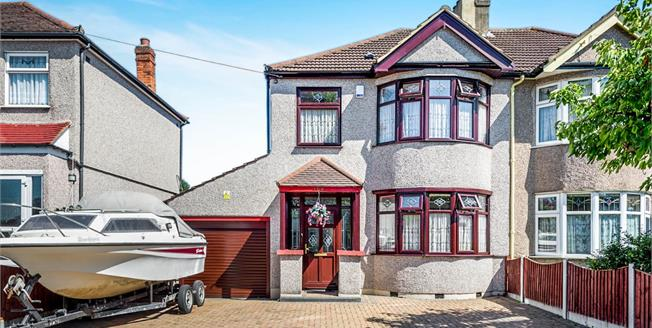 Guide Price £450,000, 3 Bedroom Semi Detached House For Sale in Romford, RM5