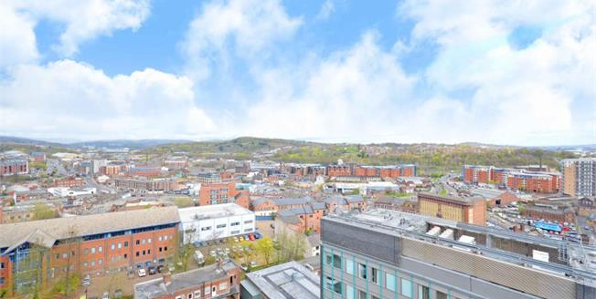 Guide Price £160,000, 2 Bedroom Upper Floor Flat For Sale in Sheffield, S3