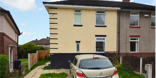Guide Price £85,000, 2 Bedroom Semi Detached House For Sale in Sheffield, S5