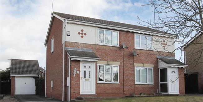 Guide Price £130,000, 2 Bedroom Semi Detached House For Sale in Barlborough, S43