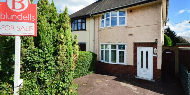 Guide Price £105,000, 2 Bedroom Semi Detached House For Sale in Chesterfield, S40