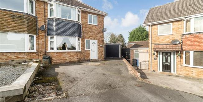 Guide Price £180,000, 3 Bedroom Semi Detached House For Sale in Chesterfield, S40