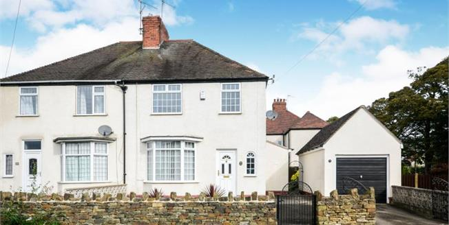 Guide Price £185,000, 3 Bedroom Semi Detached House For Sale in Chesterfield, S41