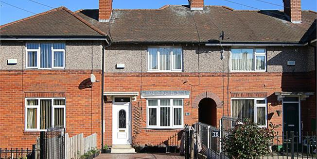 Guide Price £110,000, 2 Bedroom Terraced House For Sale in Sheffield, S13