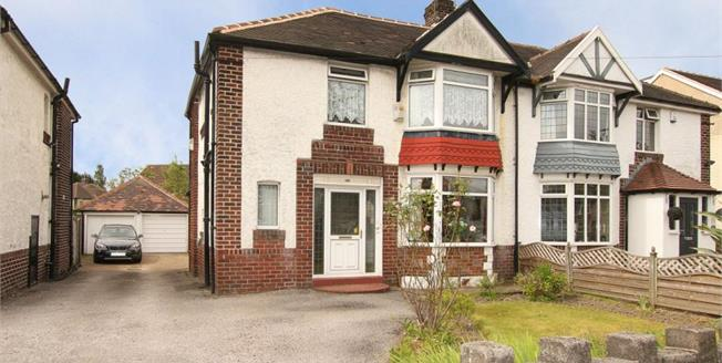 Guide Price £225,000, 3 Bedroom Semi Detached House For Sale in Sheffield, S8